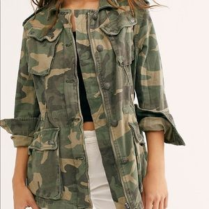 Free People Camo Surplus Jacket